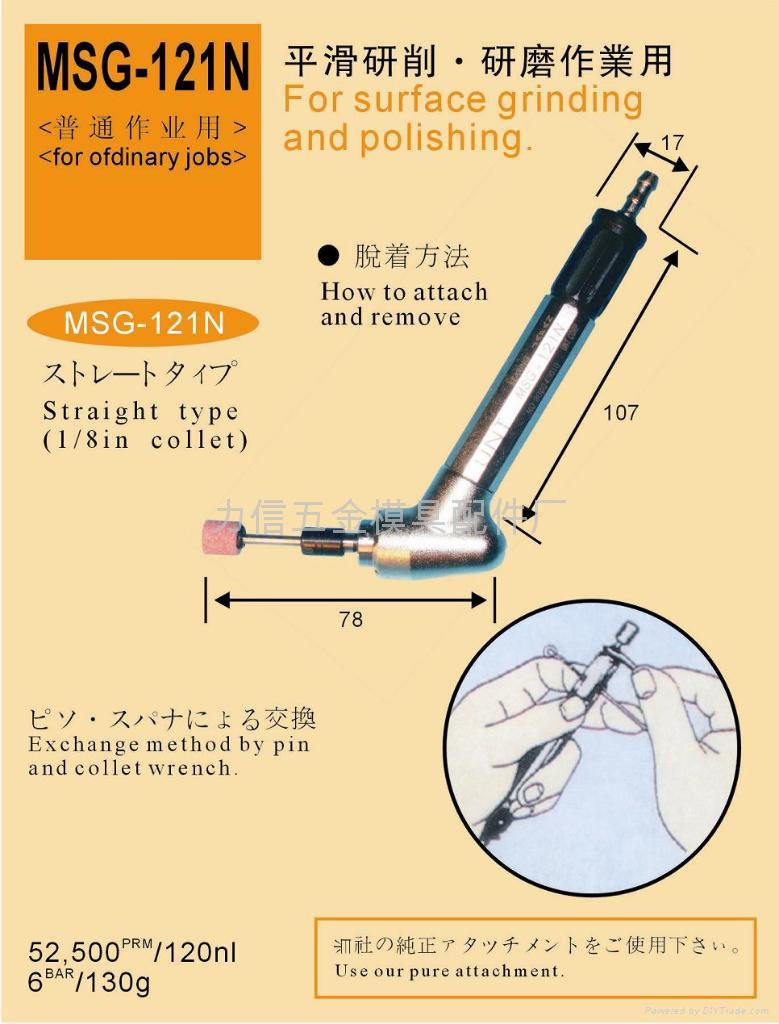 日本UNT氣動打磨機 2
