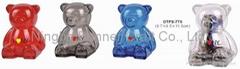 Bear shape coin banker