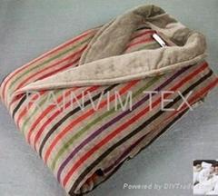 100% cotton bath robe velour