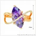 Semi-Precious with Diamond Ring