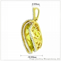 Semi-precious with Diamond Pendant