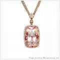 半宝石钻石项链