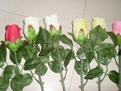 露水玫瑰花仿真花人造花,玫瑰花,百合花,蝴蝶蘭,鬱金香