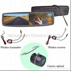 "2.4GHz Wireless Car Rear View Camera System With 4.3"" Mirror LCD Monitor"