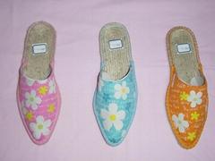 printed upper slippers