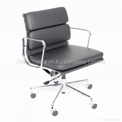 Eames softpad office group chair in aluminum
