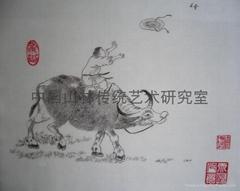 发绣:牧牛