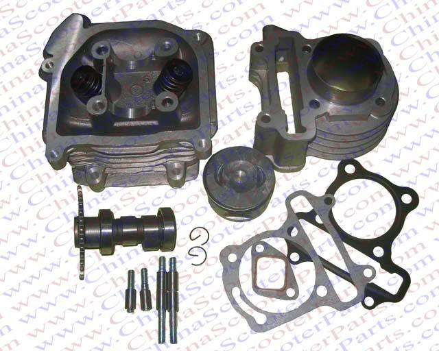 Scooter Performance Parts Cylinder Kit For Gy Cc on Gy6 150cc Carburetor Manual