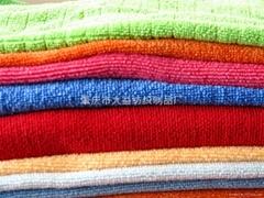 超细纤维纬编/抽格吸水毛巾