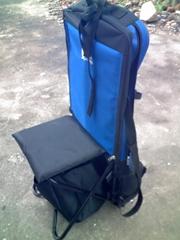 Multi function folding backrest chair for fishing