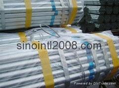 Galvanised pipe BS1387,DIN2440