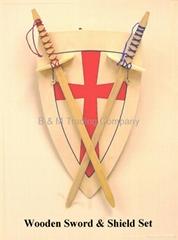 木製劍盾套裝