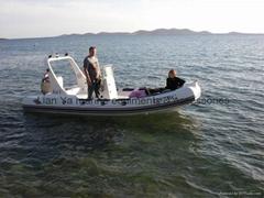 5.2 m rigid boat/ rib boat