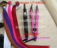 hair extension iron & hair connector