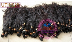 virgin (natural) human hair ponytails,raw hair,wig,clip,practice head,remy hair (Hot Product - 6*)