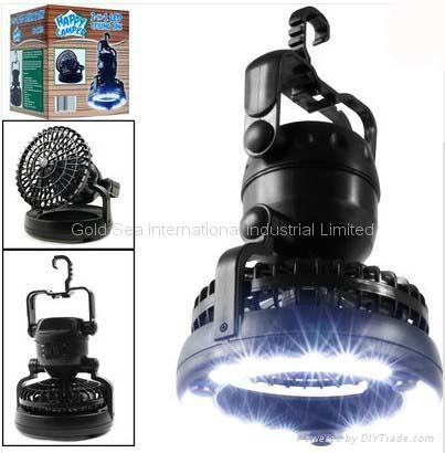 Deluxe Camping Combo LED Lantern & Fan 1