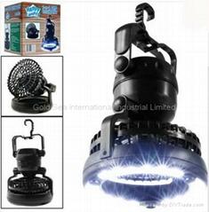 Deluxe Camping Combo LED Lantern & Fan