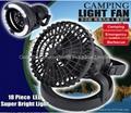 Deluxe Camping Combo LED Lantern & Fan 2