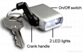 Mini Dynamo Keychain Light / Novelty LED flashlight (XY-888) 1