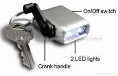 Mini Dynamo Keychain Light / Novelty LED flashlight (XY-888)