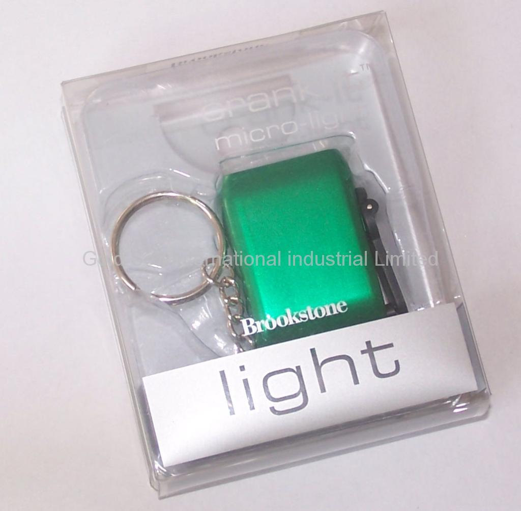 Mini Dynamo Keychain Light / Novelty LED flashlight (XY-888) 2