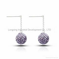 Shamballa earring