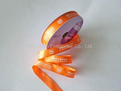 Satin Ribbon with One-Color Screen Print