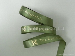 Satin Ribbon with Hot Stamp Print