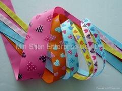 Grosgrain Ribbon with Screen Print