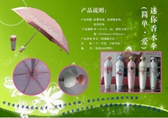 perfum bottle  umbrella