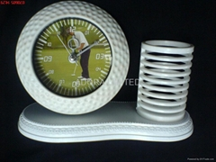 pen holder and golf clock