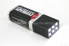 9V LED手電筒