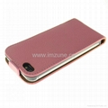 Lichee magnet flip leather case pouch for iphone 4s,iphone 5,iphone5