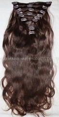 Clip in hair pieces and wefts