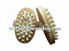 wooden massage comb