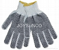 String Knitted Glove with PVC Dotts (TCDP01)