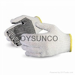 String Knitted Glove with PVC Dotts (TCDP02)