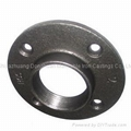 Malleable iron pipe fittings flanges,light pattern with bolt hole