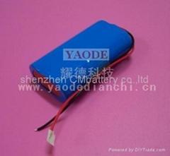 特殊電子產品專用串聯7.4V大容量鋰電池組