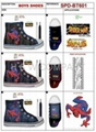 boy's spider man canvas shoes