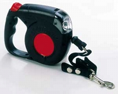 retractable dog leash&flashlight