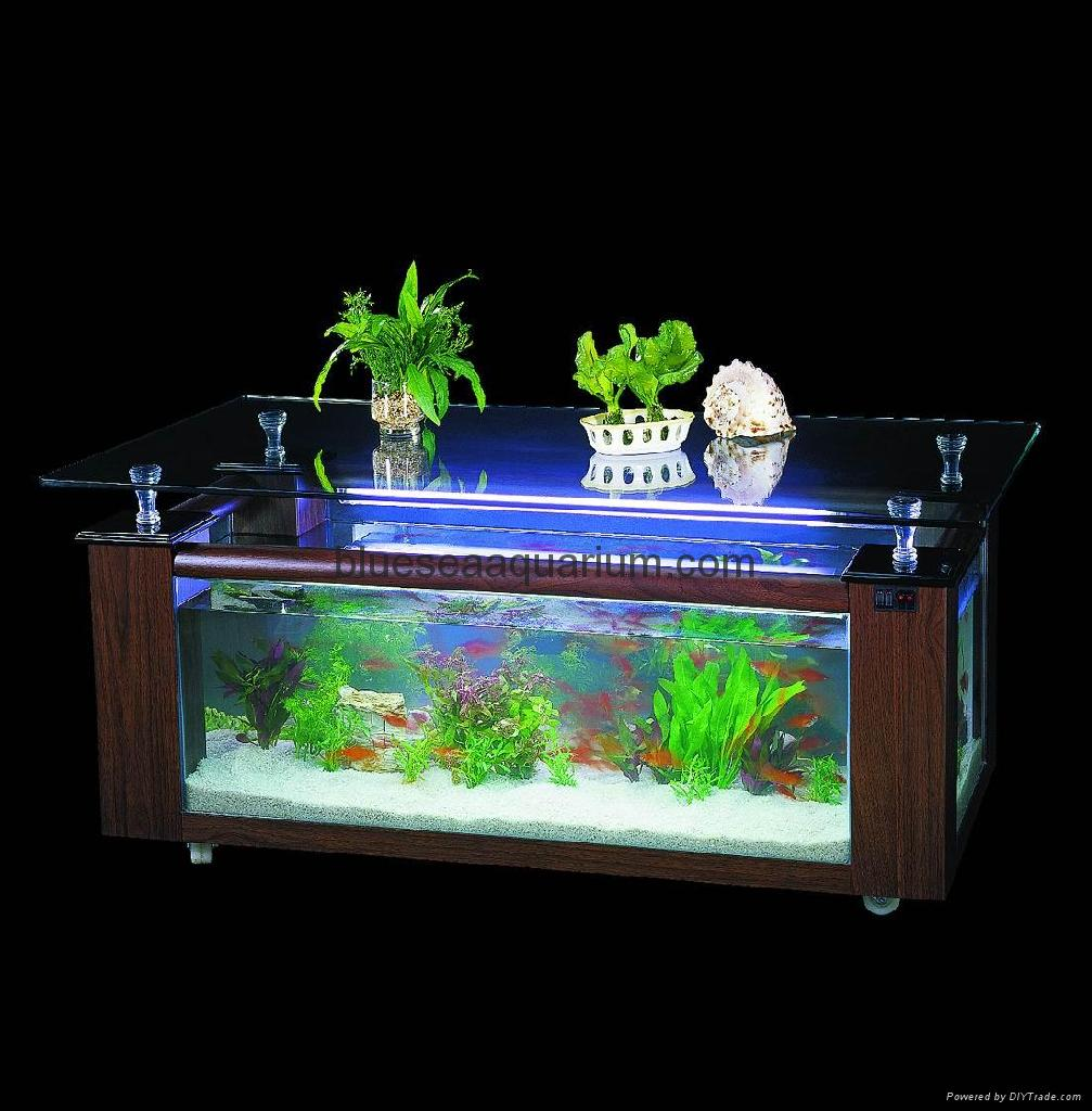 Coffee table aquarium product catalog china ningbo for Table aquarium