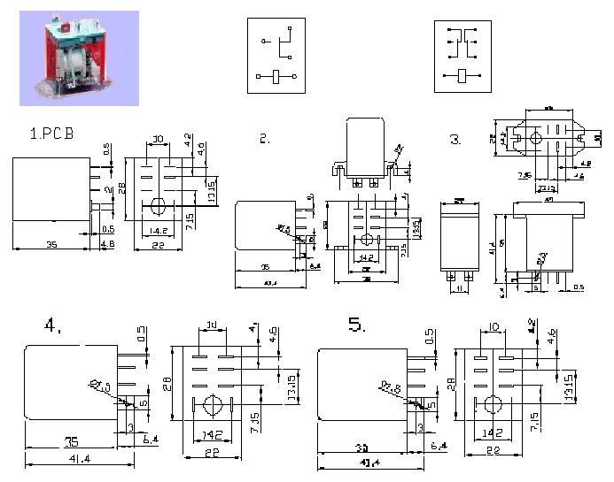 小型强功率交直流电磁继电器