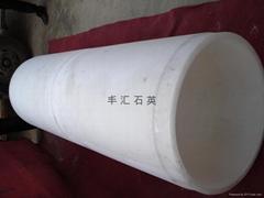 80mm--700mm乳白不透明大口徑石英管
