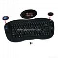 2.4GHz Multimedia Keyboard with Optical Trackball