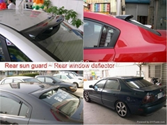 Car Rear Sun Guards, Window Deflector, For All Models