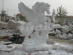 馬雕塑石雕