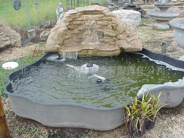 农村庭院小鱼池设计图 庭院鱼塘的设计效果图庭院图片