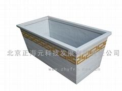 供應古典高檔玻璃鋼花槽