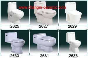 One Piece Toilets Ceramic Sanitary Ware 2601 2612
